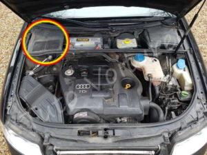 Emplacement filtre habitacle - Audi A4 B6 - Tutovoiture