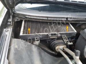 Sortir filtre habitacle - Audi A4 B6 - Tutovoiture