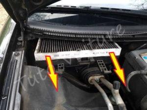 Enlever filtre habitacle - Audi A4 B6 - Tutovoiture