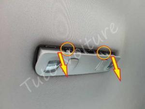 sortir boitier lumière intèrieur Audi A4 B6 - Tutovoiture