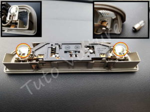 Boitier lumière intérieur Audi A4 B6 - Tutovoiture