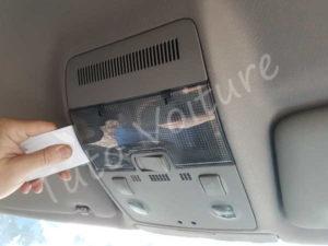Ouvrir plafonnier avant - Audi A4 B6 - tutovoiture