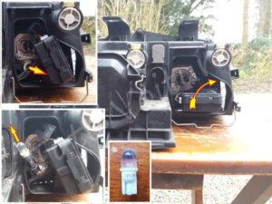 Démontage ampoule veilleuse Audi A4 B6 - Tutovoiture