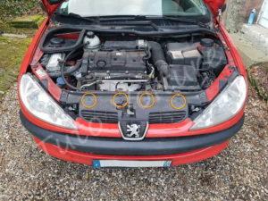 Fixation calandre - Peugeot 206CC - Tutovoiture