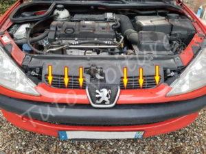 Déclipser calandre - Peugeot 206 - Tuto voiture