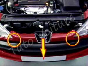 Sortir calandre inférieure - Peugeot 206 CC - Tutovoiture