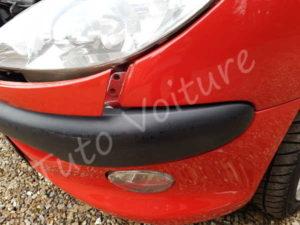 Calandre inférieure déclipser - Peugeot 206 CC - Tuto voiture