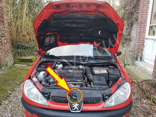 Ouvrir Capot Peugeot 206