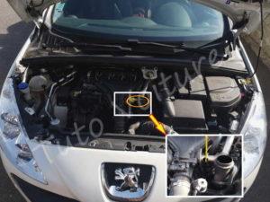 Position jauge huile - Peugeot 308 CC - Tuto voiture