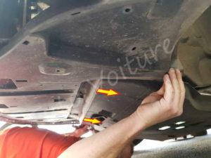 Démontage protection moteur - Peugeot 308 CC - Tuto voiture