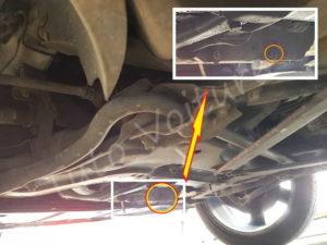 Emplacement bouchon de vidange - Peugeot 308 CC - Tuto voiture