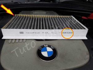 Sens filtre habitacle BMW E60 série 5 - Tutovoiture