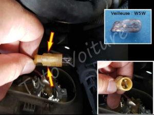 Ampoule veilleuse - Renault Espace 3 Phase 1 - Tuto voiture