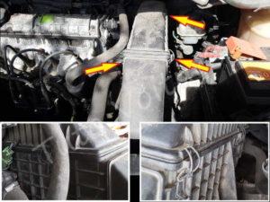 Fixation filtre à air - Renault Espace 3 phase 1 - tutovoiture