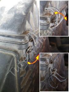 Clips compartiment filtre à air - Renault Esapce 3 phase 1 - Tutovoiture