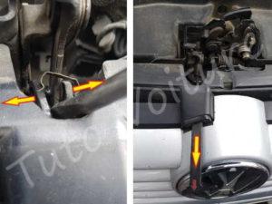 Démontage loquet capot Volkswagen Bora - Tutovoiture