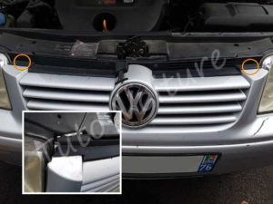 Démontage calandre Volkswagen Bora - Tutovoiture