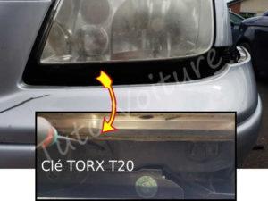Fixation sous phare - Volkswagen bora - Tuto voiture