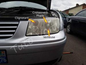 Position de feux avant gauche Volkswagen Bora - Tutovoiture