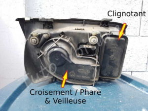 Position feux optique Volkswagen Bora - Tutovoiture