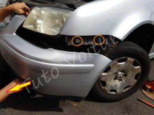 Démontage pare-chocs Volkswagen Bora - Tutovoiture