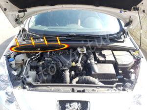 Agrafe filtre habitacle - Peugeot 308 - Tuto voiture