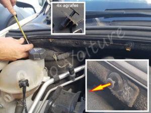Accéder filtre habitacle - Peugeot 308 - Tuto voiture