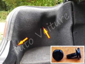 Fixation garnissage coffre BMW E60 série 5 - Tutovoiture
