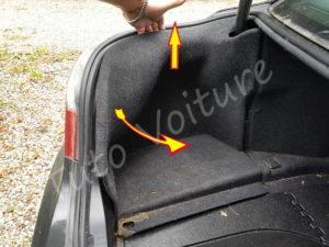 Dégarnissage cache moquette coffre - BMW E60 série 5 - Tutovoiture