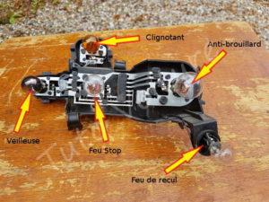 Position des feux arrières sur la porte lampe - BMW E60 série 5 - Tutovoiture
