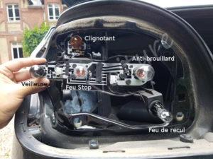 Position des feux arrières sur la platine bmw série E60 - Tutovoiture