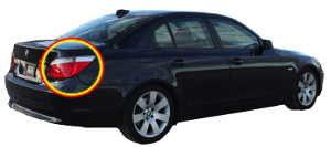 BMW E60 vue 3/4 arrière BMW E60 série 5 - Tutovoiture