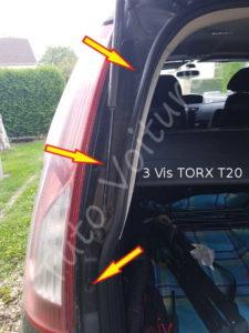 Fixation optique feux arrière - Citroën C4 Picasso - Tutovoiture