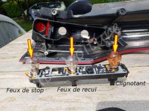 Platine optique feux arrière - Citroën C4 Picasso - Tuto voiture