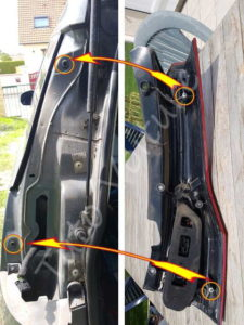 Montage optique feux arrière - Citroën C4 Picasso - Tuto voiture