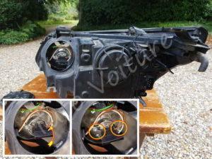 Sortir douille ampoule phare - BMW E60 serie 5 - Tutovoiture