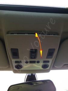 Ouvrir plafonnier avant - BMW série 5 E60 - Tutovoiture
