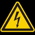 Panneau attention électrocution