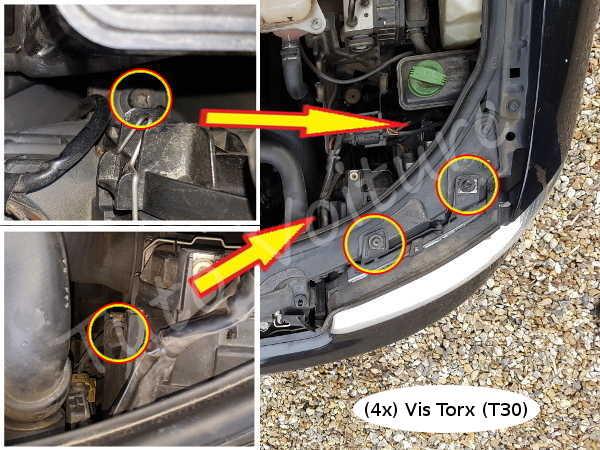 D montage optique et changement ampoule avant gauche d 39 une for Changer ampoule garage