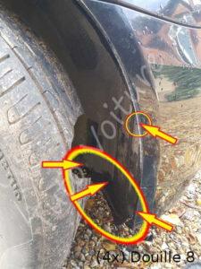 Fixation passage de roue - BMW E60 - Tuto voiture