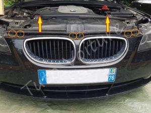 Fixation bouclier avant - BMW série 5 E60 - Tuto voiture