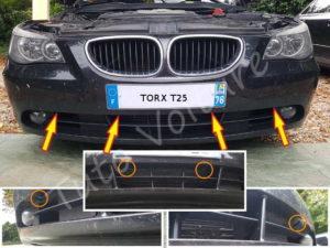 Fixation bouclier avant - BMW série 5 E60 - Tutovoiture
