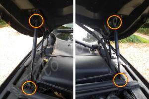 Fixation vérins capot moteur - BMW E60 - Tuto voiture