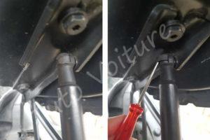 Remplacer, changer vérin capot moteur - BMW E60 - Tuto voiture
