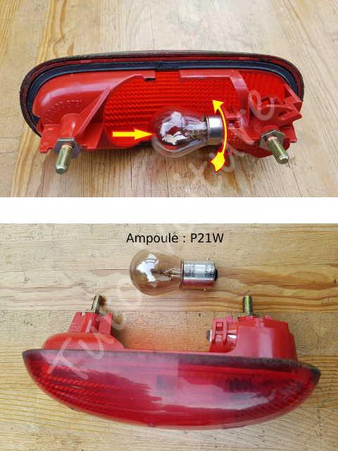3 me feu stop comment changer l 39 ampoule sur un renault kangoo tuto voiture. Black Bedroom Furniture Sets. Home Design Ideas