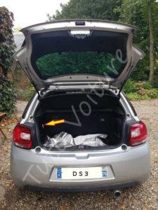 Emplacement ampoule coffre - Citroën DS3 - Tuto voiture