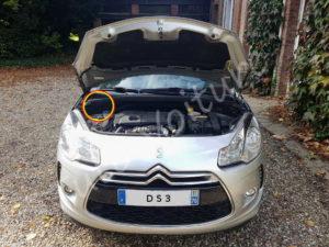 Emplacement filtre habitacle - Citroën DS3 - Tuto voiture - Citroën DS3 - Tuto voiture