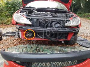 Position klaxon - Peugeot 206cc - Tuto voiture