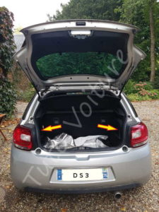 Emplacement de la trappe des ampoules arrière - Citroën DS3 - Tuto voiture