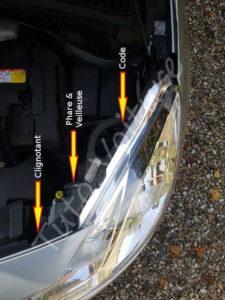Position ampoules avant - Citroën DS3 - Tutovoiture